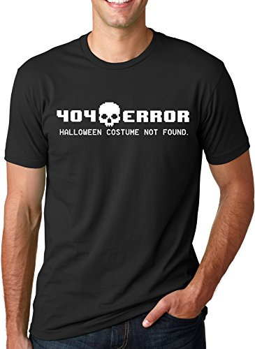 [404 Error Costume Not Found T Shirt Funny Halloween Tee XXL] (Zombie Costume Ideas For Adults)