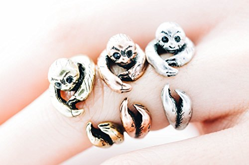 Silver Monkey Ring,sloth Ring,animal Ring,12R-00064