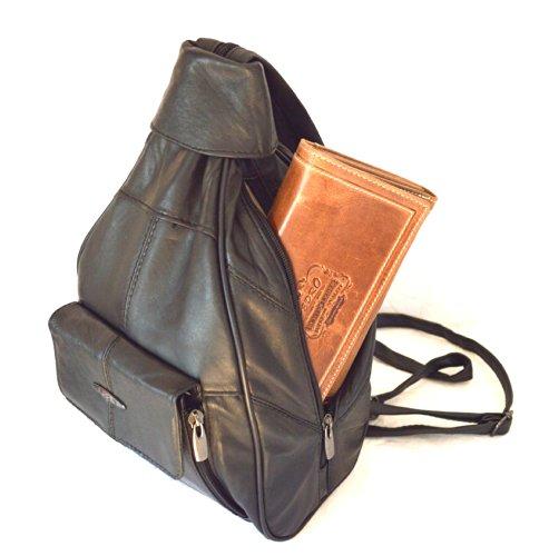 Damen Rucksack und Leder Tasche in einem Teil City Bag