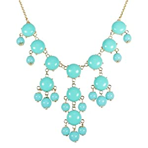 Wrapables Mini Bubble Bib Statement Necklace, Sky Blue