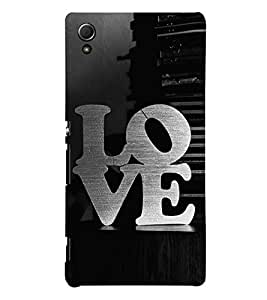 Love 3D Hard Polycarbonate Designer Back Case Cover for Sony Xperia Z4