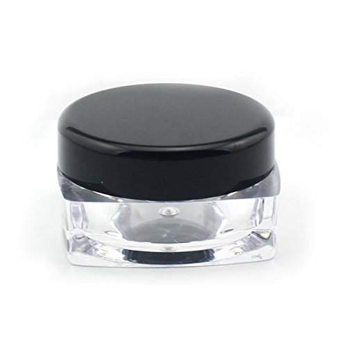 Mavogel 50pcs clear acrylic cosmetic containers 5 gram for Clear bathroom containers