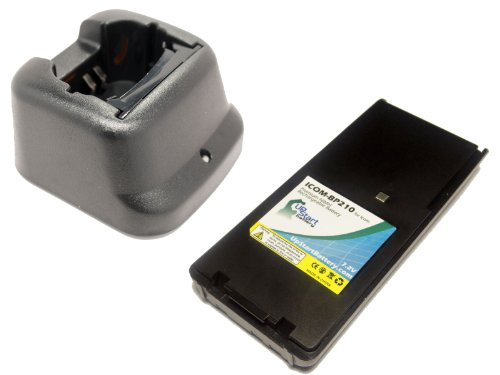 Icom Ic-A6 Battery And Charger - Replacement For Icom Bp-210 Two-Way Radio Batteries And Chargers (1100Mah, 7.2V, Ni-Cd)
