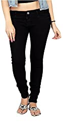 Carrel Bring In Stretchable Denim Fabric Black Colour Slim Fit Jeans For Womens