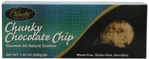 Pamela's Products Chunky Chocolate Chip Cookies, 7.25-Ounce Boxes (Pack of 6)