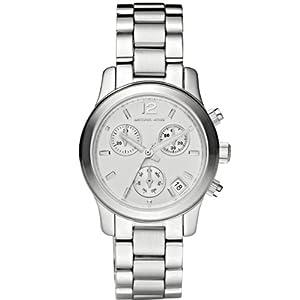 MICHAEL KORS MK5428 - Reloj analógico de cuarzo para mujer con correa de acero inoxidable, color plateado