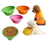 1PCS Practical and High Quality Folding Telescopic Pet Bowl for Travel