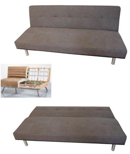 design schlafsofa schlafcouch klappsofa dunkelbraun neu. Black Bedroom Furniture Sets. Home Design Ideas
