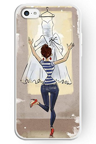 Sprawl Love Melody Design Hard Plastic Case Cover For Iphone 5C -- When She Get Wedding Dress