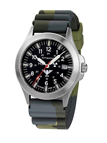 KHS relojes KHS hombre Automatic Tactical. PA.DC3 Camo sumergible de acero inoxidable. Colour verde oliva