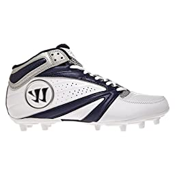 Warrior Second Degree 3.0 LaCrosse Cleat, White/Blue, 8.5 D US