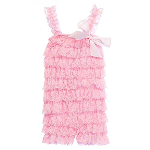 CVERRE Petti lace Baby Toddler Girls Layered Ruffle Petti Romper (PK, L)