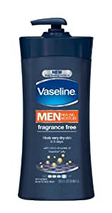 Vaseline Men, Body & Face Lotion, Fragrance Free, 20.3Ounce