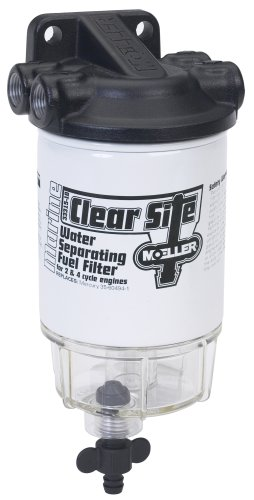"Moeller Clear Site Water Separating Fuel Filter System (3/8"" NPT, Aluminum)"