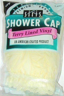 Siris Shower Cap Large Solid Vinyl (3-Pack)