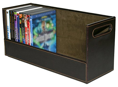Stock Your Home Stacking DVD Movie Media Home Storage Organizer- Chocolate Brown (Movie Case Storage compare prices)
