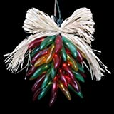 Lighted Chili Pepper Ristras. Length: Approx. 8in.