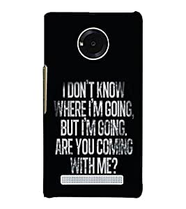 Lovely Quote 3D Hard Polycarbonate Designer Back Case Cover for YU Yunique
