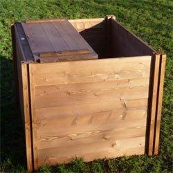 Holz Komposter Mit Deckel - 75 cm x 90 cm x 90 cm. von The Recycle Works