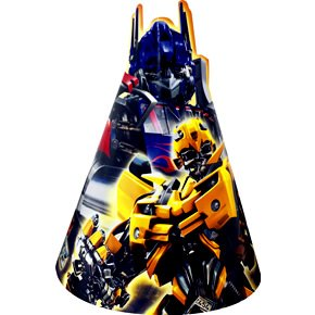 Transformers Movie Cone Hats 8 pc