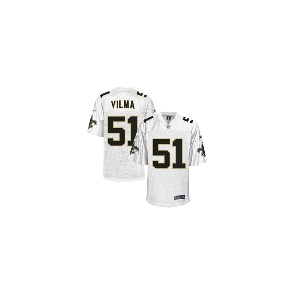 New Orleans Saints NFL Jerseys #51 Jonathan Vilma WHITE Authentic