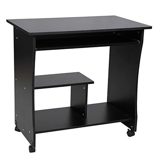 Songmics-Computertisch-mit-Tastaturauszug-3-Regale-4-Kunststoffrollen-80-x-48-x-76-cm-PC-Tisch-fr-Ihren-Arbeitsplatz-zu-Hause-oder-im-Bro-schwarz-LCD858B