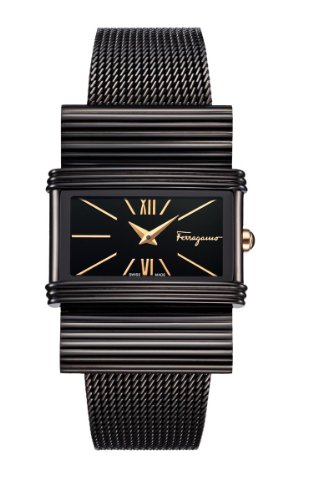 Ferragamo Women's F69MBQ6809 S068 Renaissance Black Ion-Plated Stainless Steel Watch