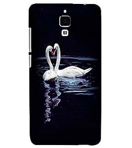 Printvisa Duck Love Pair Back Case Cover for Xiaomi Redmi Mi4::Xiaomi Mi 4