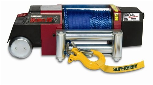 Superwinch 2404BB Husky 10, 12VDC winch, Bill Burke Signature Series with Roller Fairlead, Synthetic Rope & Heavy Duty Hook a set of heavy duty mecanum wheel with imported material pu roller 14169