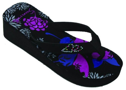 Sunville Women`S Fashion Flip Flops,11 B(M) Us,2338 Flower front-966202
