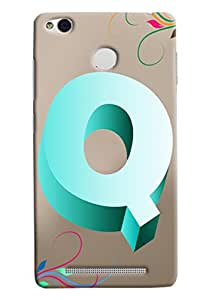 Clarks Letter Q Hard Plastic Printed Back Cover/Case For Xiaomi Redmi 3S
