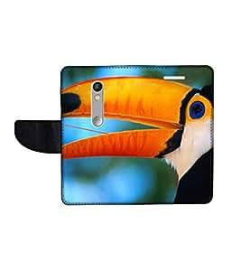 KolorEdge Printed Flip Cover For Motorola Moto X Play Multicolor - (1479-55KeMLogo09626MotoXPlay)