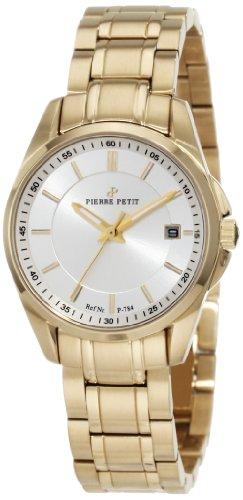 Pierre Petit P-784F - Reloj analógico de cuarzo para mujer con correa de acero inoxidable, color dorado