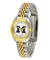 Michigan Wolverines UM NCAA Womens 23Kt Gold Watch