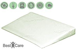 BestCare - Cojín de cuña para bebés, ideal para la minicuna, cuna, capazo o el carro, con propiedades de descompresiòn, incluye funda de aloe vera especial para piel sensible marca Pemicont