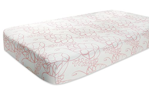 aden + anais rayon from bamboo fiber muslin crib sheet, tranquility - leafy Image