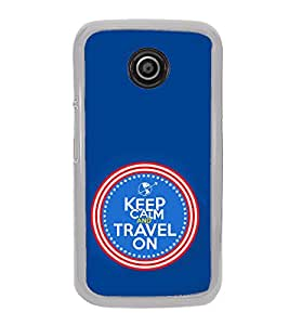 ifasho Designer Phone Back Case Cover Motorola Moto E2 :: Motorola Moto E Dual SIM (2nd Gen) :: Motorola Moto E 2nd Gen 3G XT1506 :: Motorola Moto E 2nd Gen 4G XT1521 ( Keep Calm And Grow Beard Quotes )