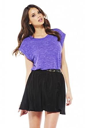 AX Paris - Belted Kick Out Skirt - size 14