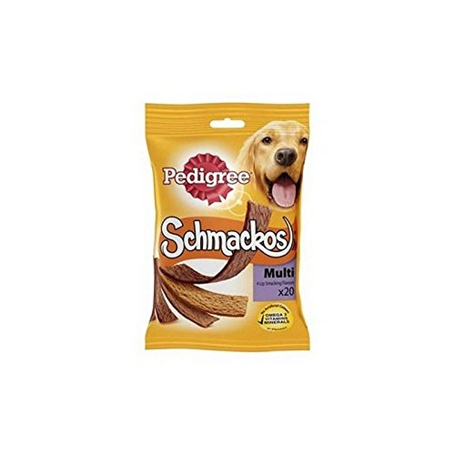 PEDIGREE Schmackos Dog Treats Meat Variety 20 x Stick (172g) 41Br 2BLIXuhL