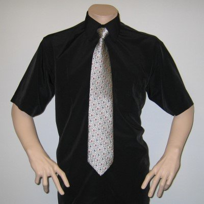 MUGA mens Shortsleeve shirts for Casual and Formal, Black, Size 3XL