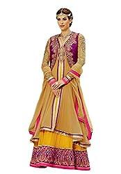 Nirali Women's Georgette Salwar Kameez Unstitched Dress Material - Free Size (Multicolor)
