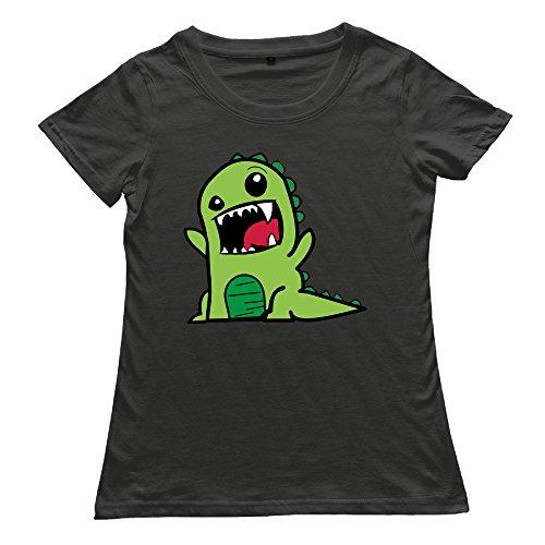 [DETED Fashion T-shirt Tee - Dinosaur For Women's SizeL Black] (Sims 3 Seasons Costumes)