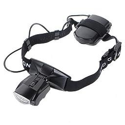 Skycoolwin Jeweler LED Glass Magnifier 5 LENS Visor Light LED 1.0X~6.0X Magnifying Headset Loupe