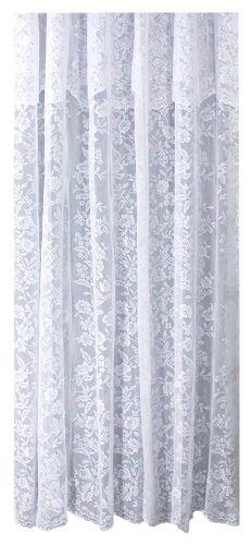 Ricardo Romance Lace White Lace Fabric Shower Curtain With An Attached Valance 72 X 72 Long Big