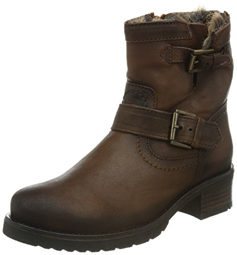 Buffalo London ES 30493 MEXICO SUEDE Stivali da Motociclista Donna, Marrone (BRANDY 07BRANDY 07), 36 EU
