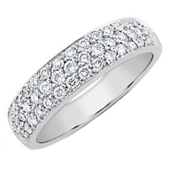 1.50 ct TW Lady's Round Cut Diamond Wedding Band Ring in 18 kt White Gold