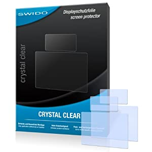 2 x SWIDO Crystal Clear Screen Protector for Nikon D7100 / D-7100 - PREMIUM QUALITY (crystalclear, hard-coated, bubble free application)