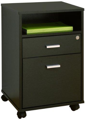 Enitial Lab Flash Drawer File Cabinet, Black