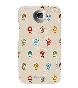 Multicolor Flowers 3D Hard Polycarbonate Designer Back Case Cover for HTC One X