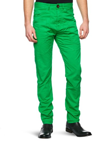 Desigual Ontax Straight Men's Trousers Green W34 INxL36 IN